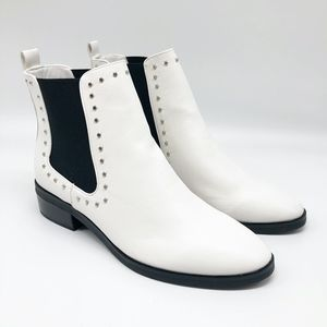 Dolce Vita White Arrive Chelsea Ankle Bootie